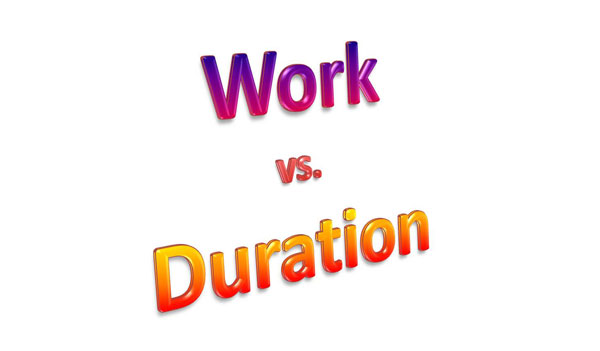 SensiblePM101 – 001 | Work vs. Duration